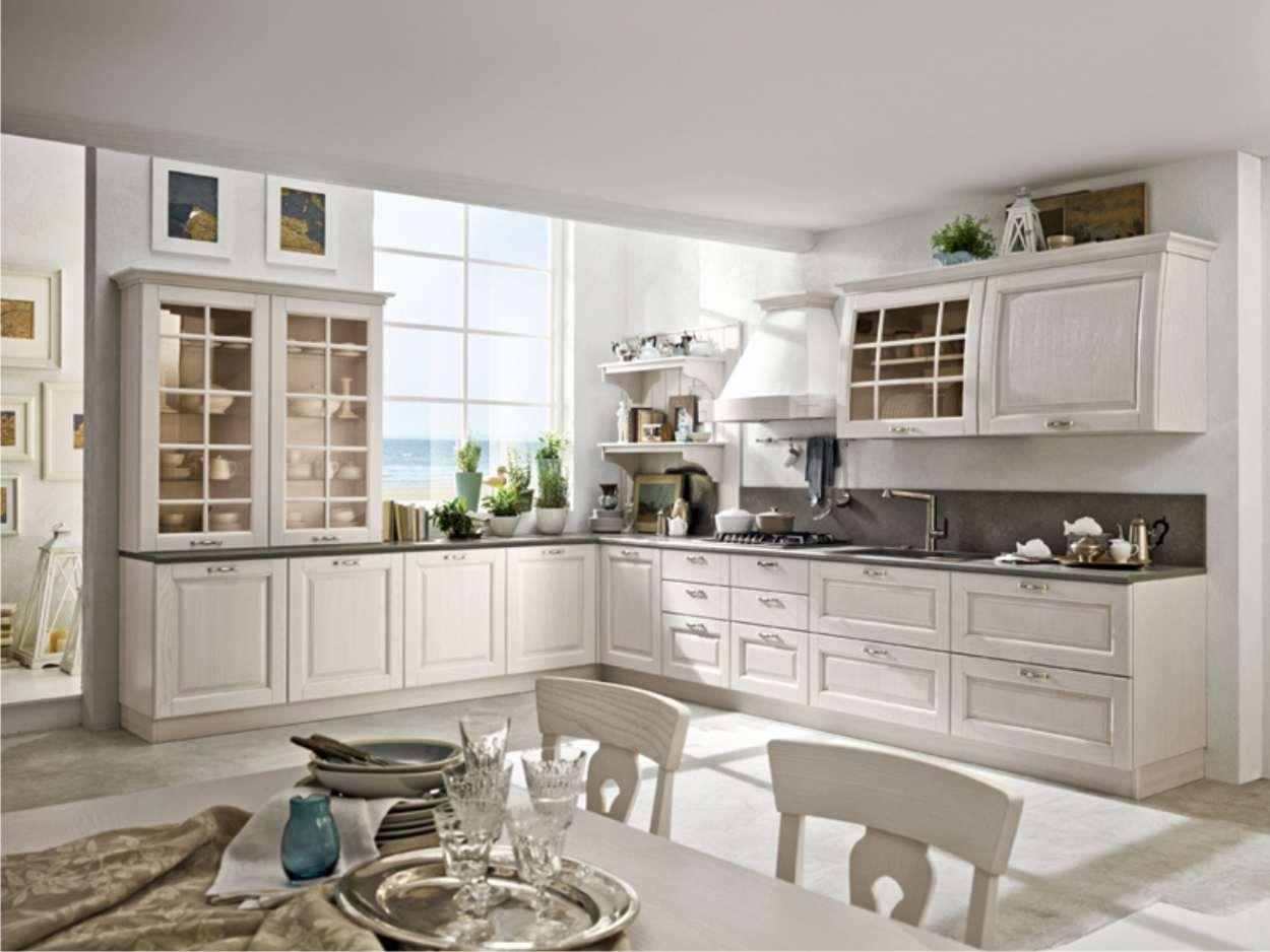 cucina stosa bianca classica