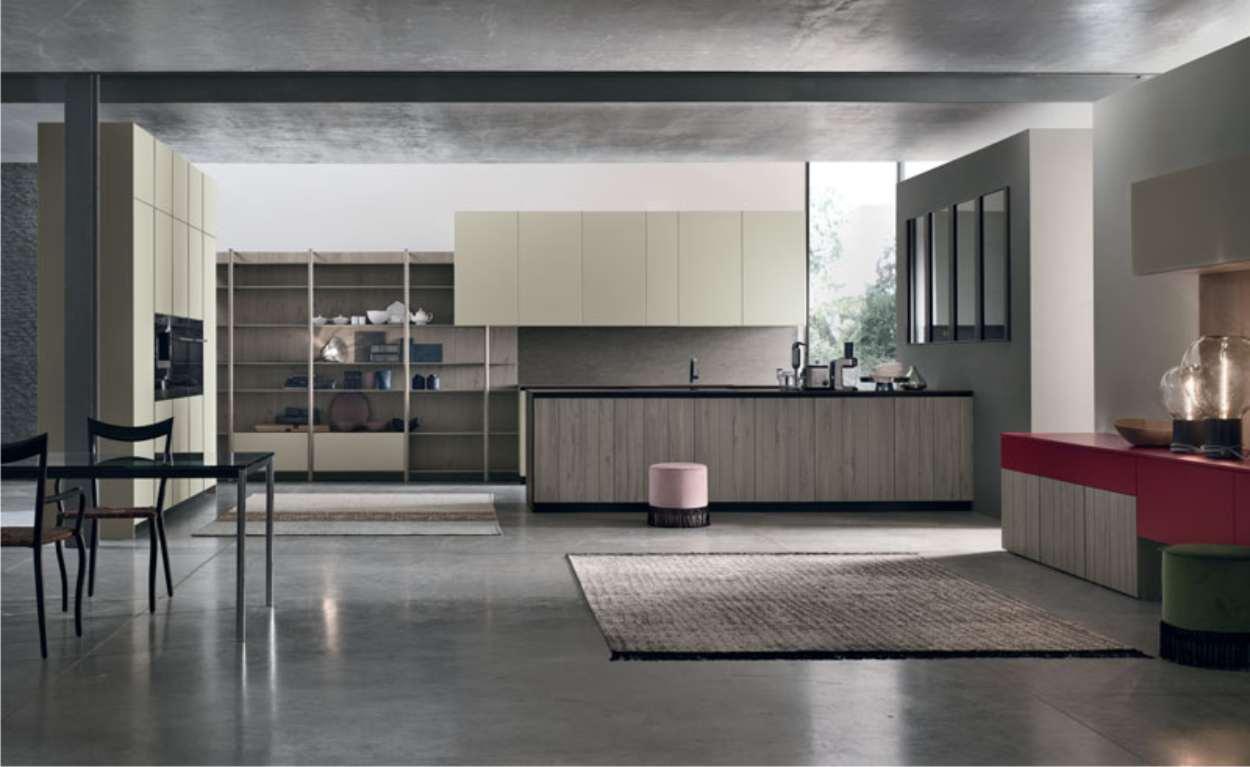 cucina moderna rovere grey