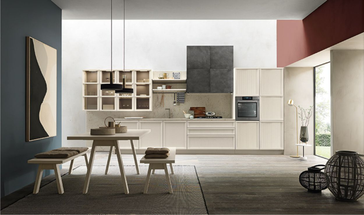 cucina lineare contemporanea