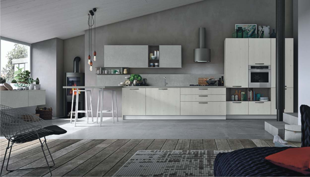 cucina infinity in mansarda