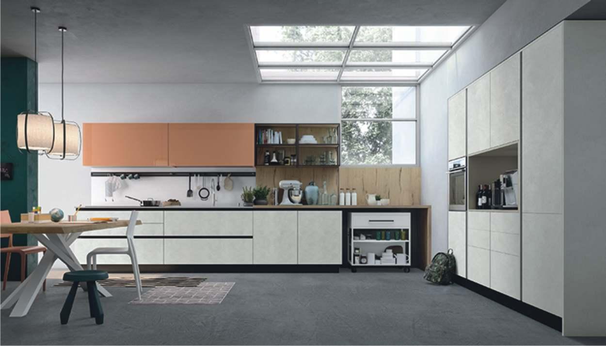 cucina lineare modulare