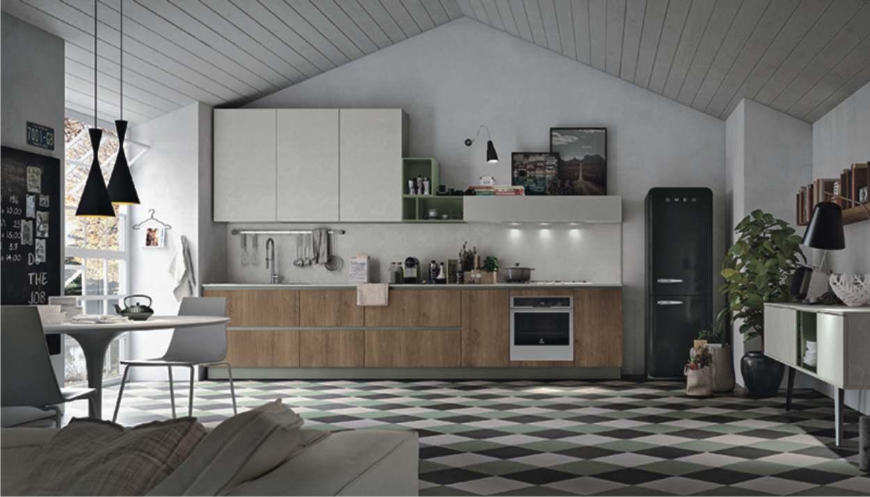 cucina lineare essenziale