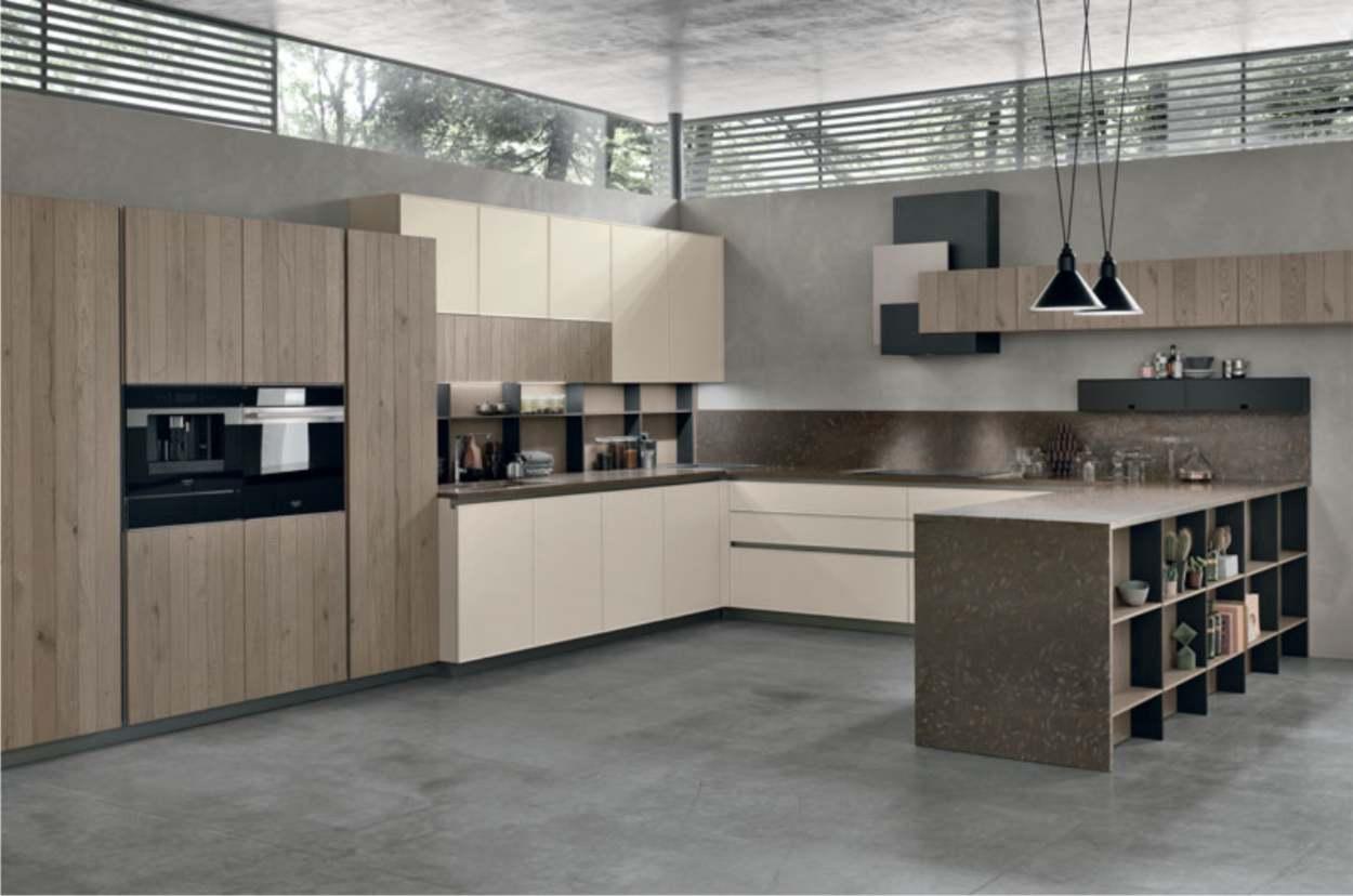 cucina moderna Stosa ad angolo
