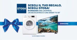 Scegli il tuo regalo: lavatrice o smart tv