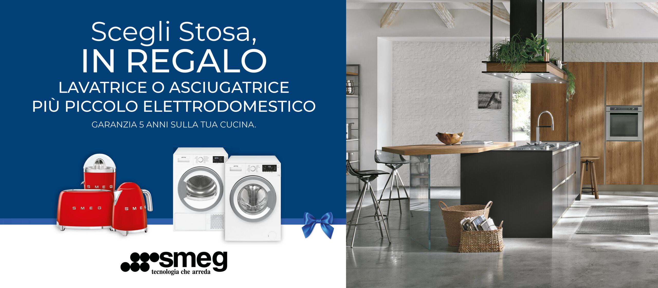 Promo Stosa: lavatrice o asciugatrice Smeg + piccolo elettrodomestico