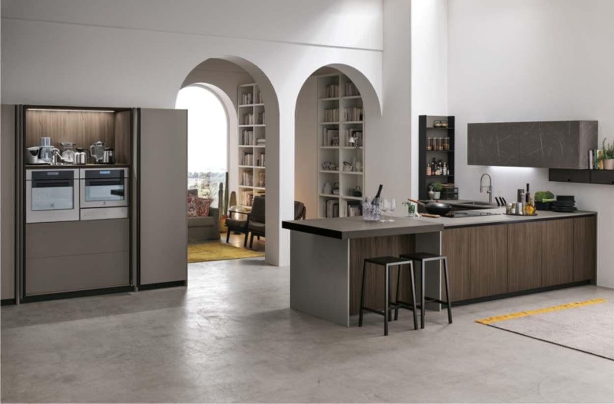 cucina in legno moderna stosa