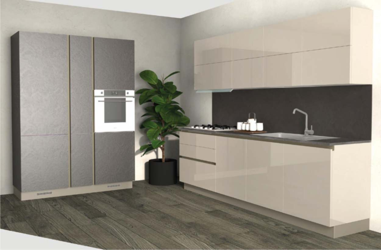 cucina lineare da 270 cm