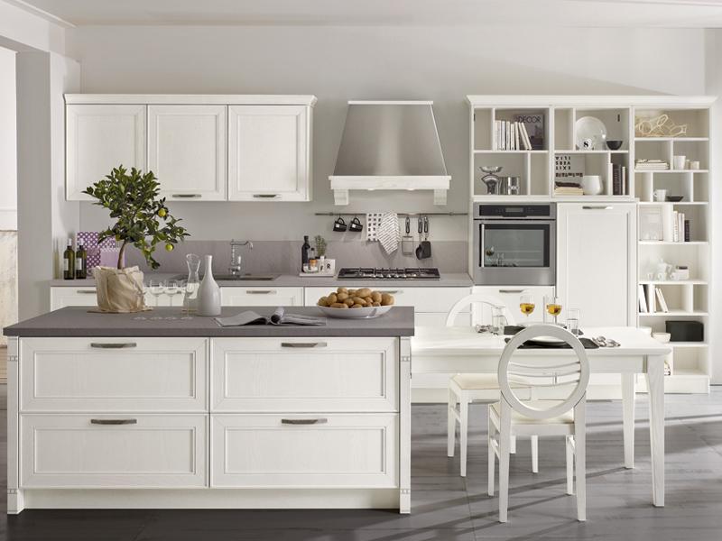 cucina bianca contemporanea maxim